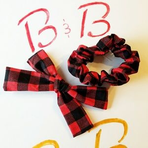 handmade Accessories - Scrunchie and Bow set